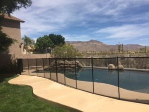 black mesh pool safety fence