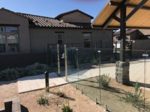 glass pool fence side view