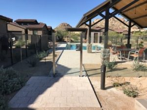 glass pool gate