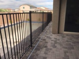 wrought iron pool fence patio install