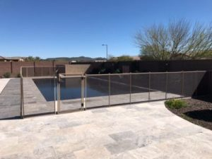 desert sand mesh fence decking install