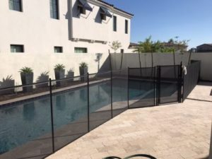 mesh pool fence works with many pool configurations