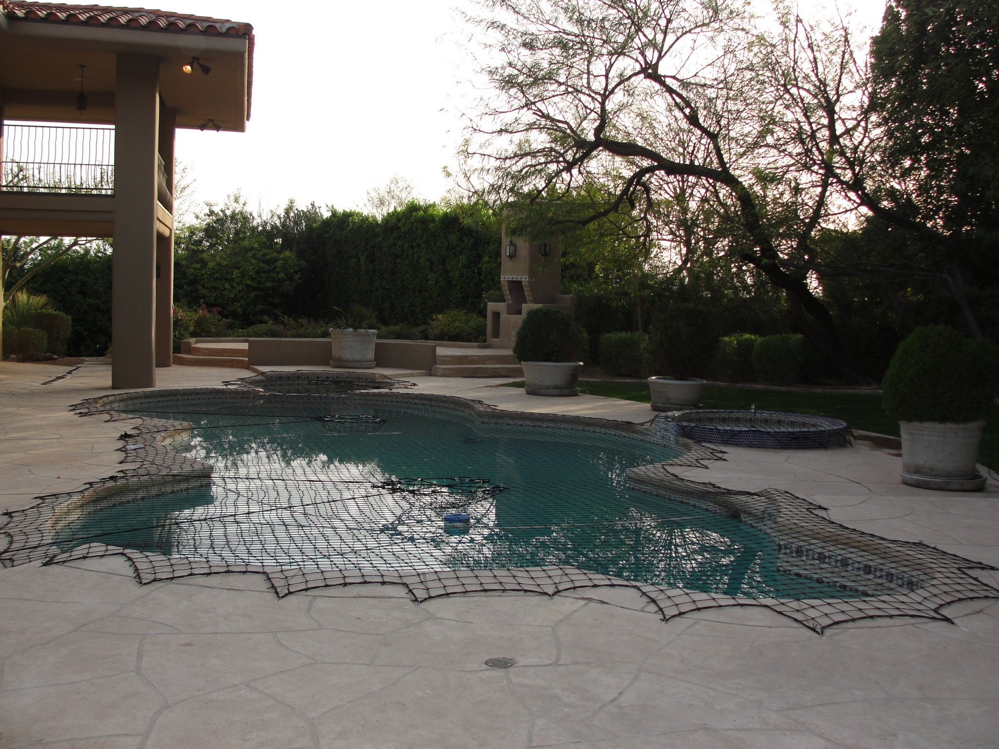 black pool and raised spa safety net cover