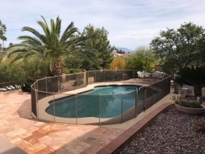 arizona oval shaped mesh pool fence