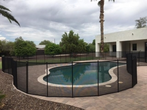 arizona removable pool fence in mesh
