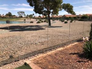 backyard glass fencing in Arizona