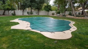 hunter green inground Phoenix pool cover