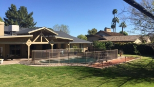 mesh pool fences offer unobstructed views