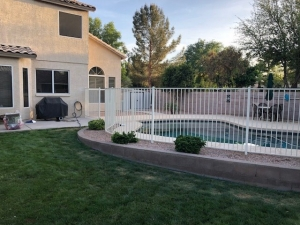 white iron pool fencing in phoenix