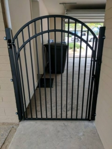 wrought iron side yard gate