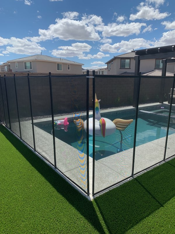see through black mesh pool fence
