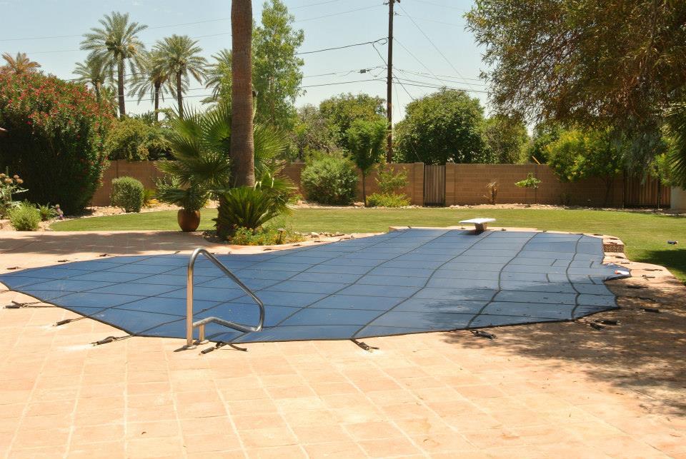 mesh pool covers keep debris out
